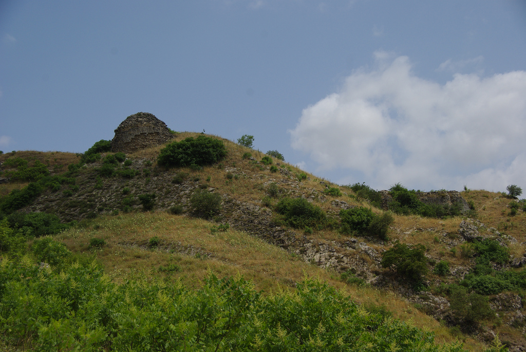 Ruins of the Gulustan Fortress- view from the below